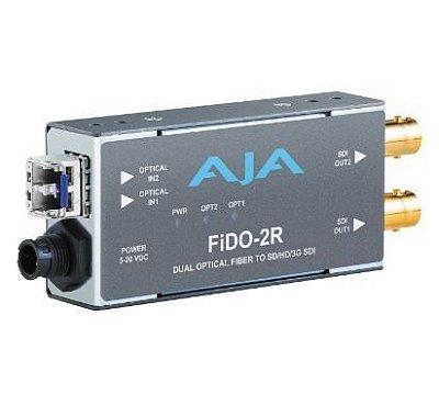 CONVERSOR FIDO-2R DUAL OPTICAL FIBER SH/HD/3G SDI - AJA