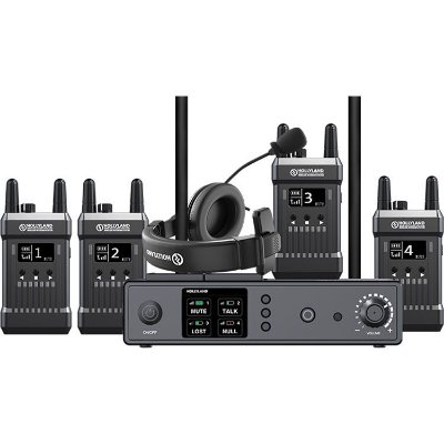SISTEMA DE INTERCOM HOLLYLAND SEM FIO MARS T1000 (1 BASE STATION E 4 BELTPACKS)