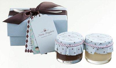 Caixa Degustação com 2 Potes de Brigadeiro de Colher - Tradicional e Chocolate Branco