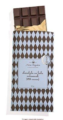 Barra de chocolate ao leite artesanal (45% cacau)