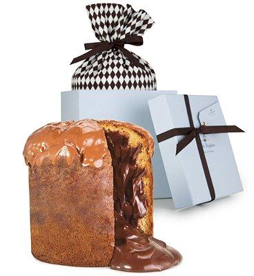 panetone de chocolate intenso (75% cacau)