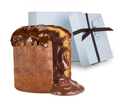 Panetone artesanal de brigadeiro chocolate intenso