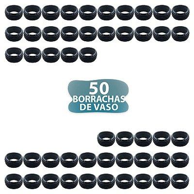 50 BORRACHA PRETA DE VASO SEM ABA PARA NARGUILE