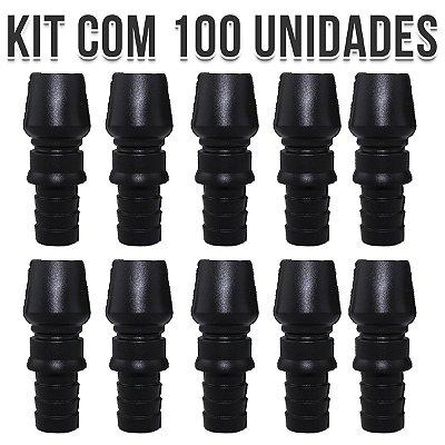 KIT 100 CONTRA PITEIRA DE SILICONE UNIVERSAL BLACK NARGUILE