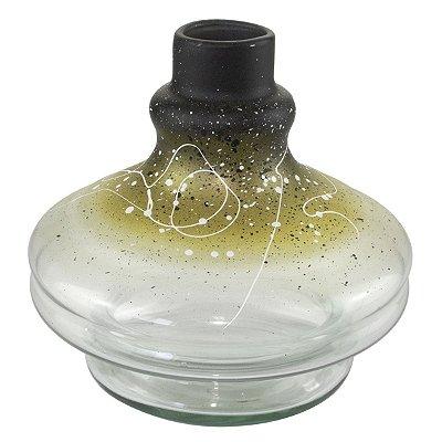 VASO DE VIDRO ESPACIAL NARGA GLASS 13CM