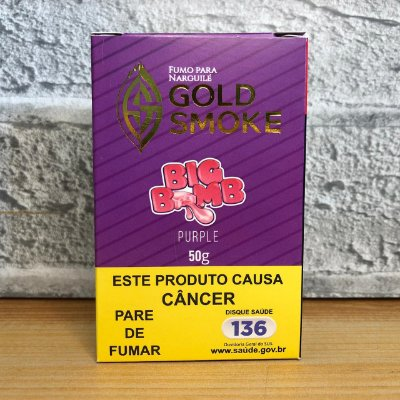 ESSÊNCIA GOLD SMOKE 50g BIG BOMB PURPLE (CHICLETE UVA)