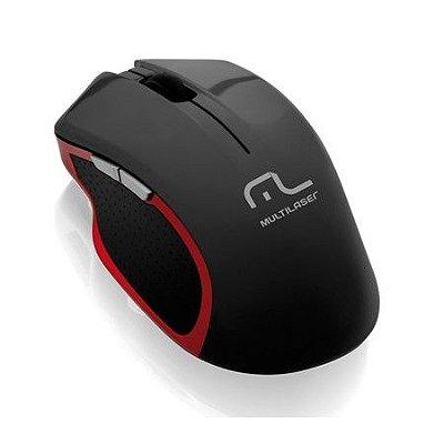 Mouse Wireless X Gamer 3200dpi Super Laser Multilaser Mo172