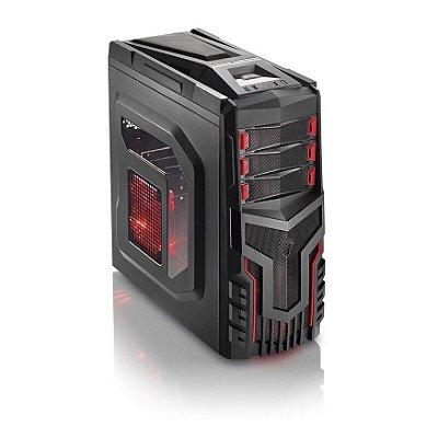 Gabinete Multilaser Gamer sem Fonte Cooler com LED GA124