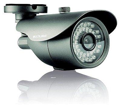 """Câmera de Segurança Externa Multilaser CCD 700TVL 36IR"""" 6mm"""