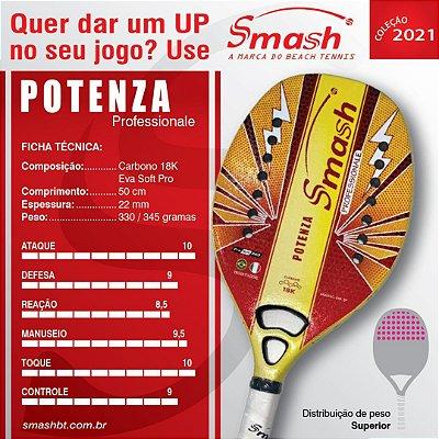 Raquete de Beach Tennis  - Smash BT – Mod. Potenza Professionale