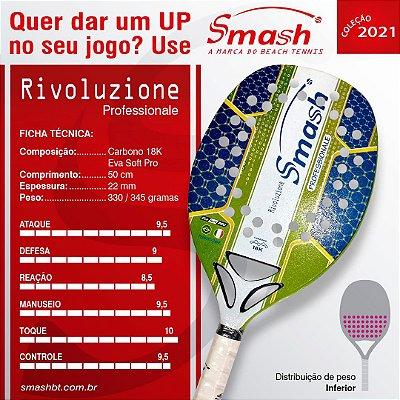 Raquete de Beach Tennis  - Smash BT – Mod. Rivoluzione Professionale