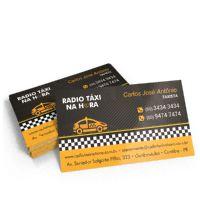 Cartão de Visita Papel Couchet 250 gramas 4x0 Cores 500 Unidades