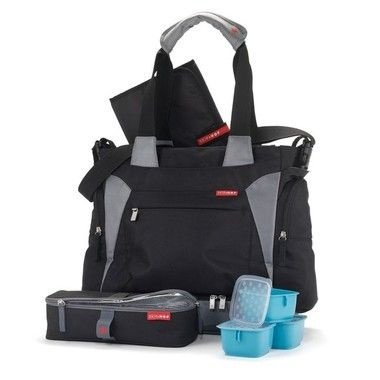 Bolsa Maternidade (Diaper Bag) Bento Tote Black - Acompanha Bolsa térmica com 3 potes - Clix Mealtime !! PROMOÇÃO DE OUTONO   Aproveitem !!!!