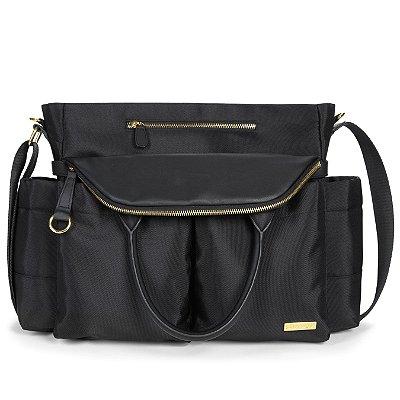 Bolsa Maternidade (Diaper Bag) Chelsea - Black - ******* - GANHE 1 Roll Around Coruja  - o chocalho mordedor premiado para o seu bebe******