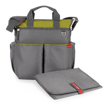 Bolsa Maternidade SKIPHOP (Diaper Bag) Duo Signature Charcoal/Lime