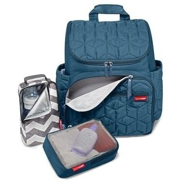 Bolsa Maternidade SKIPHOP (Diaper Bag) - Forma Backpack (mochila) - Peacock