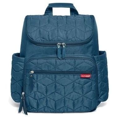 Bolsa Maternidade (Diaper Bag) - Forma Backpack (mochila) - Peacock