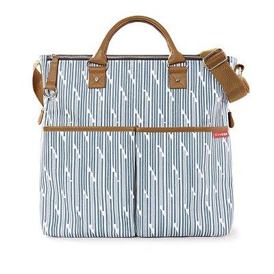 Bolsa Maternidade Skip Hop - Coleção Duo Limited Edition - Cor Blue Print Stripe