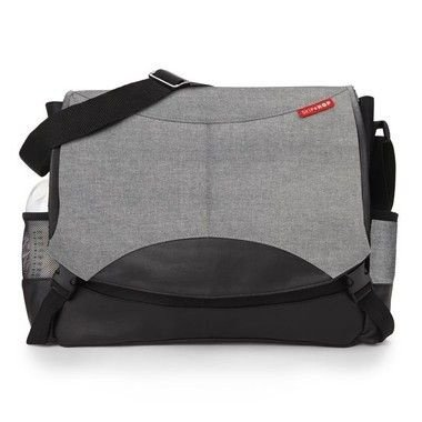 Bolsa Maternidade SKIPHOP (Diaper Bag) Swift Messenger - Grey ( cinza) ***ULTIMA UNIDADE***