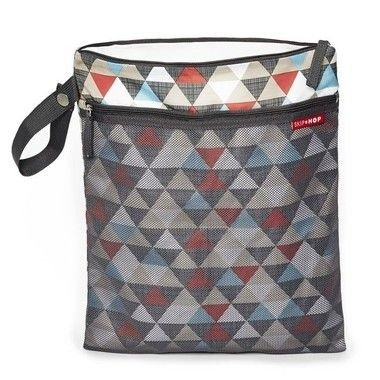 Bolsa Wet and Dry - Linha On-The-Go - Estampa Triangles