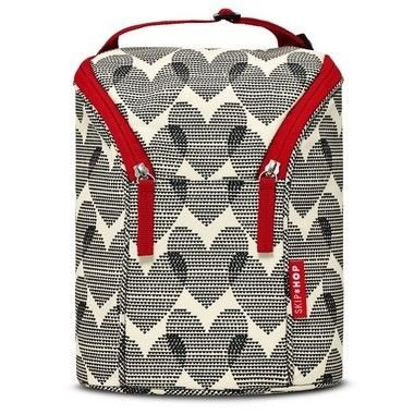 Bolsa termica para mamadeira SKIPHOP - Double Bottle Bag - (On the Go) - Hearts