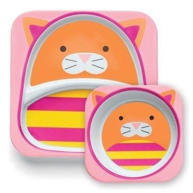 Conjunto de pratos Zoo - Gato