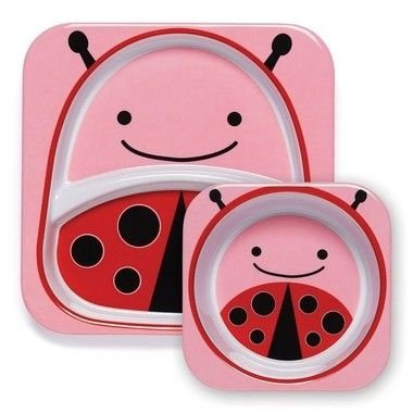 Conjunto de pratos Zoo - Joaninha (Ladybug)