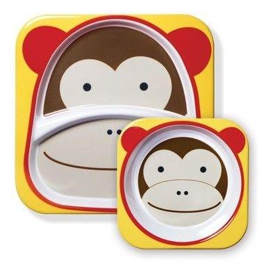 Conjunto de pratos Zoo - Macaco
