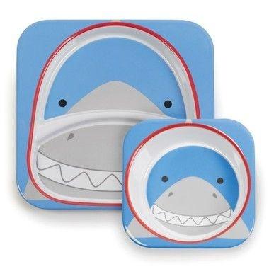 Conjunto de pratos Zoo - Tubarão