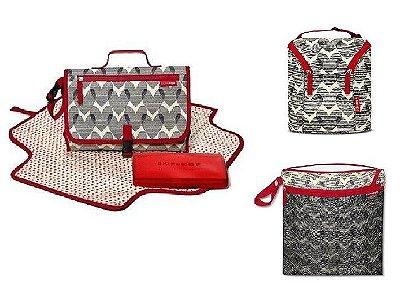 SUPER COMBO - Heart Collection -  AS 3 PEÇAS *****  Trocador Pronto + Bolsa Wet/Dry + Double Bottle - Para todas as ocasiões!!! PROMOÇÃO SETEMBRO CHEGOU SKIPHOP!!!!!