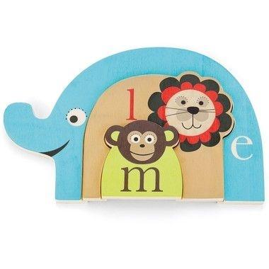Quebra Cabeça Alfabeto Animal - (Macaco + Leão + Elefante) ***ULTIMAS UNIDADES***