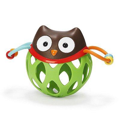 Roll Around Owl ( Coruja) - Brinquedo para bebe com chocalho