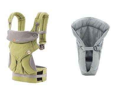 Combo Canguru 360 Green + Infant Insert Grey ******PROMOÇÃO ULTIMA UNIDADE******
