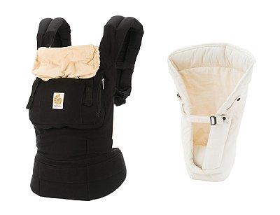 Combo Canguru Original Black Camel + Infant Insert Natural