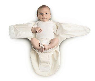 Swaddler ERGOBABY Natural/Natural (medium/large) -  Embalagem com 2 unidades - O Cueiro Inteligente - Sono tranquilo para o seu bebe