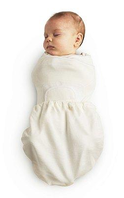 Swaddler Natural/Natural (small/medium) - Embalagem com 2 unidades - O Cueiro Inteligente - Sono tranquilo para o seu bebe
