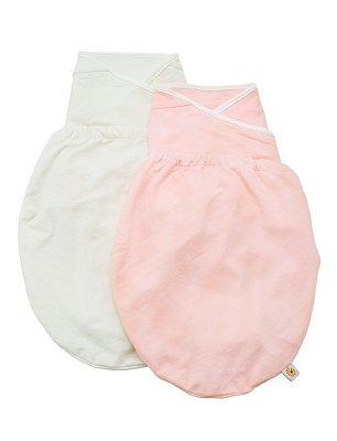 Swaddler (small/medium) - Embalagem com 2 unidades (cores: Pink e Natural) - O Cueiro Inteligente - Sono tranquilo para o seu bebe