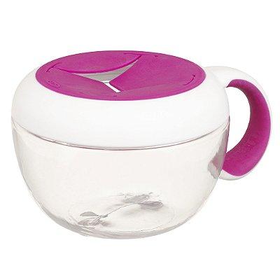 Pote de lanche infantil com Alça Tot Flippy ™ Snack Cup Oxotot - Rosa - 235 ml