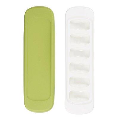 Duas bandejas com tampa de silicone para para armazenamento OXOTot Verde (12 x 29ml)