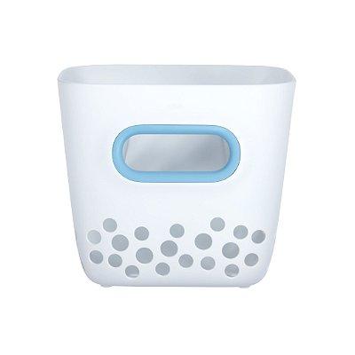 Porta Brinquedos de Banho OXOTot - Cor Branco e Azul