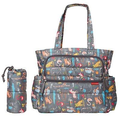 Bolsa Maternidade SKIPHOP (Diaper Bag) Forma Pack&Go - Animal Toss - LANÇAMENTO - Acompanha 2 necessaires , um trocador e uma bolsa para a garrafinha.