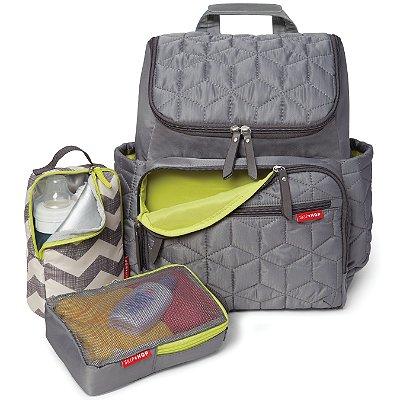 Bolsa Maternidade (Diaper Bag) - Forma Backpack (mochila) - Grey  - Acompanha 2 necessaire e um trocador!!