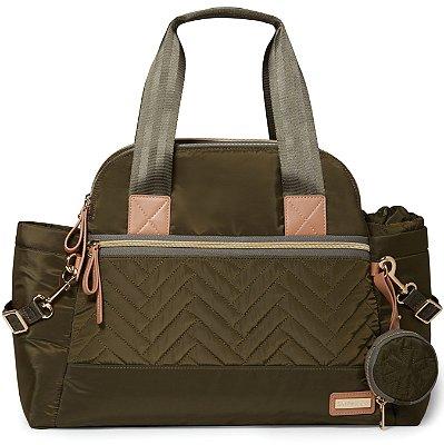 Bolsa Maternidade SKIPHOP (Diaper Bag) - Suite Satchel Set 6 Peças - Olive