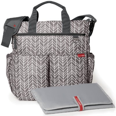 Bolsa Maternidade SKIPHOP (Diaper Bag) - Duo Signature - Grey Feather