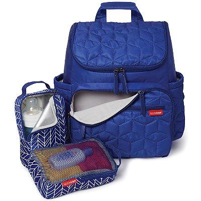Bolsa Maternidade (DiaperBag) - Forma Backpack (mochila) - Indigo - Acompanha 2 necessaire e um trocador!!