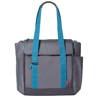 Bolsa Maternidade SKIPHOP (Diaper Bag) - Fit All - Graphite Aqua *****SUPER LANÇAMENTO MUNDIAL****** Acompanha trocador e torre com potes para a comidinha.