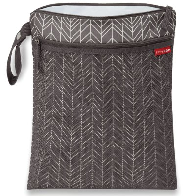 Bolsa Seco e Molhado SKIPHOP (On The Go) Wet/Dry Bag Grey Feather