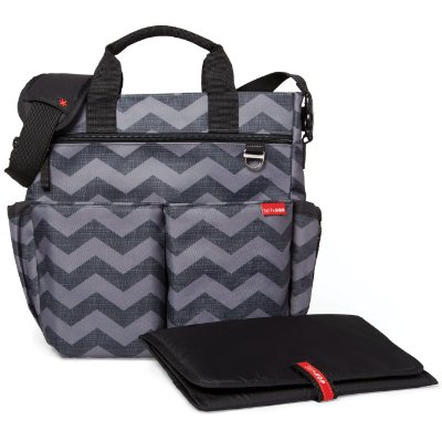 Bolsa Maternidade SKIPHOP (Diaper Bag) - Duo Signature - Tonal Chevron ( The New Chevron)