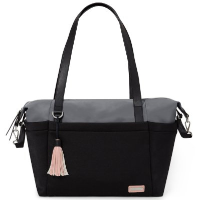Bolsa Maternidade SKIPHOP (Diaper Bag) - Nolita Neoprene Black Grey ****PROMOCAO SETEMBRO CHEGOU !!!******