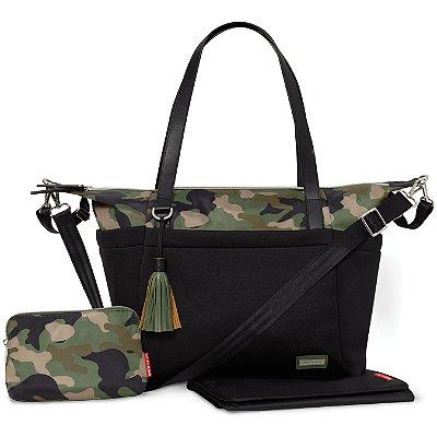 Bolsa Maternidade SKIPHOP (Diaper Bag) - Nolita Neoprene Black Camuflada Skip Hop ****Lançamento Mundial****